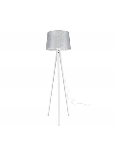 Modelight Modelight Deko Lambader Beyaz Ayak / File Gri Şapka Renksiz